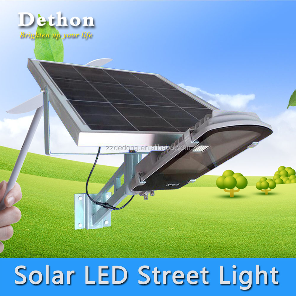 30W Outdoor IP65 Rechargeable Integrated Solar LED Street Light