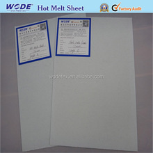 80 degree temp hot melt chemical sheet for toe puff stiffener
