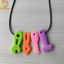 2016 Teresa Silicone Baby Teething Necklace wholesale for Moms, Teething Silicone Beads and Baby Teething Toys