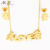 MS-119 Ready Stock durable modeling gold plated earrings pendant necklace jewelry set