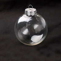 Christmas ornament supplier wholesale christmas glass ornament ball clear hanging glass baubles