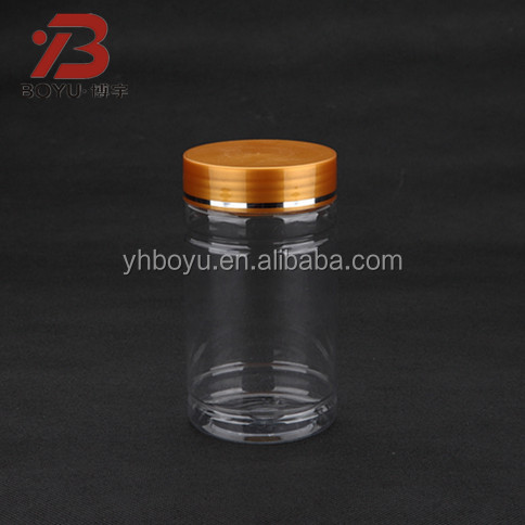 100/150/175ml PET colorful plastic health care products bottle with aluminum cap for pills
