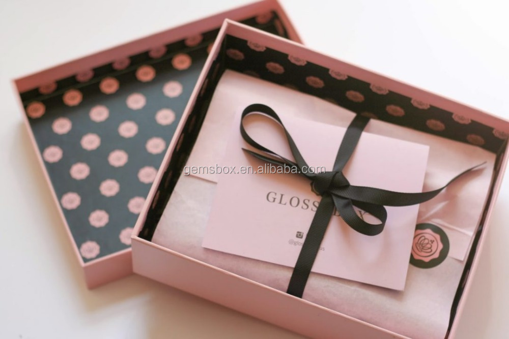exclusive tissue wrap makup pack gift box