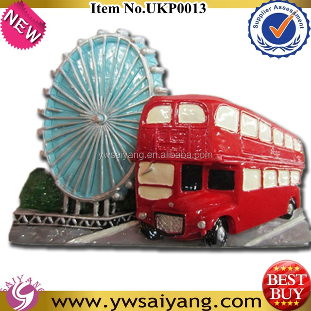 2014 New wholesale resin Fridge Magnets 2D New London Bus and Eyes Souvenirs Promotional Gift