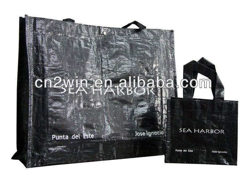 durable pp woven shopping bags reusable carrier bag(2W-2060)