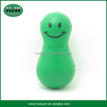 Pu antistress tumble toys ball with smile face