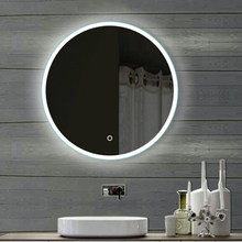 Heated LED Bathroom Mirrorwith Clock/ Toilet Mirror with LED Light