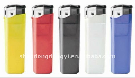 disposable electronic lighter with opaque tank