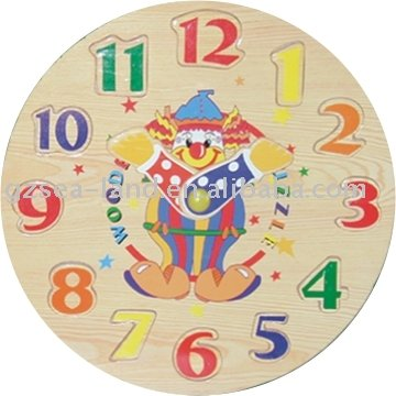 wooden clock jigsaw puzzle