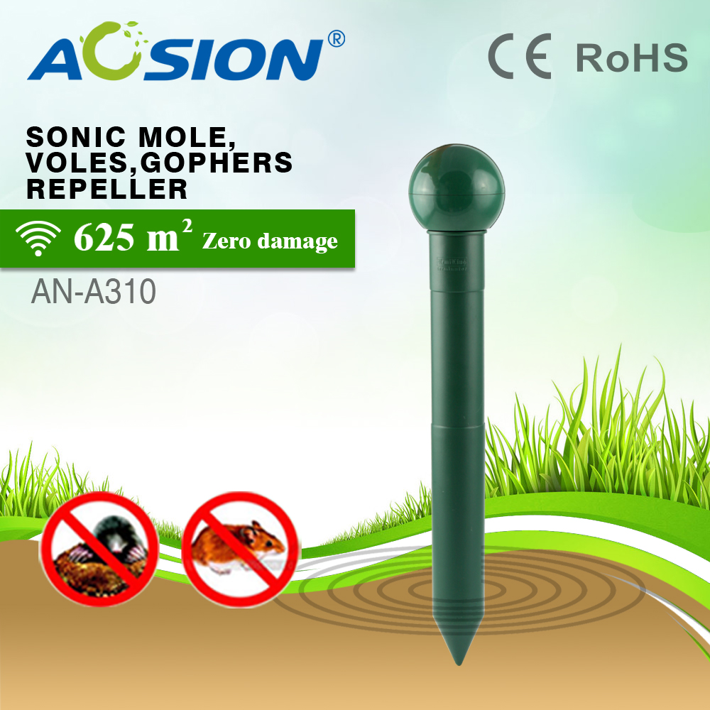 Aosion Waterproof Sonic Gophers Electronic Voles Repellent with Frequency Hertz