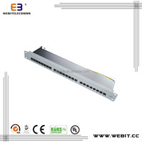 19 Inch , 24Ports STP patch panel ,CAT5E/CAT6/CAT6A PATCH PANEL,Krone IDC