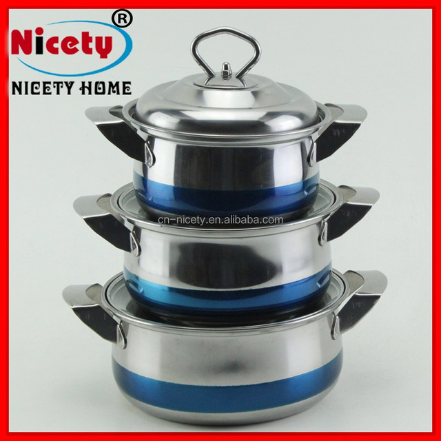 eco-friendly multi functional stainless steel cooking pot casserole set