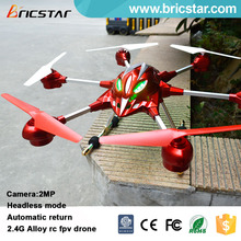 Headless mode 5.8G photo transmission rc FPV alloy china quad copter hd camera drone professional with lights.