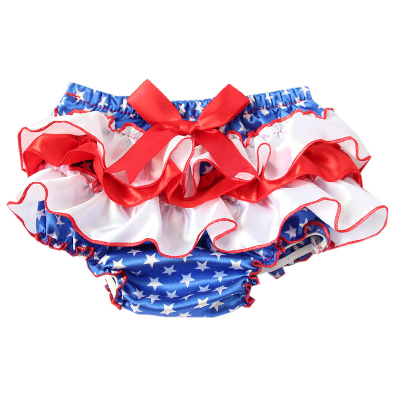 Baby Ruffle Bloomers Layers Diaper Cover Newborn Flower Shorts With Skirts Toddler Cute Summer Satin Pants