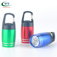 Aluminum 6 LED Flashlight With Carabiner