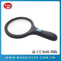 Online Shopping Extra Large Handheld 12 LED Light Durable Dual Magnifying Glass for Reading
