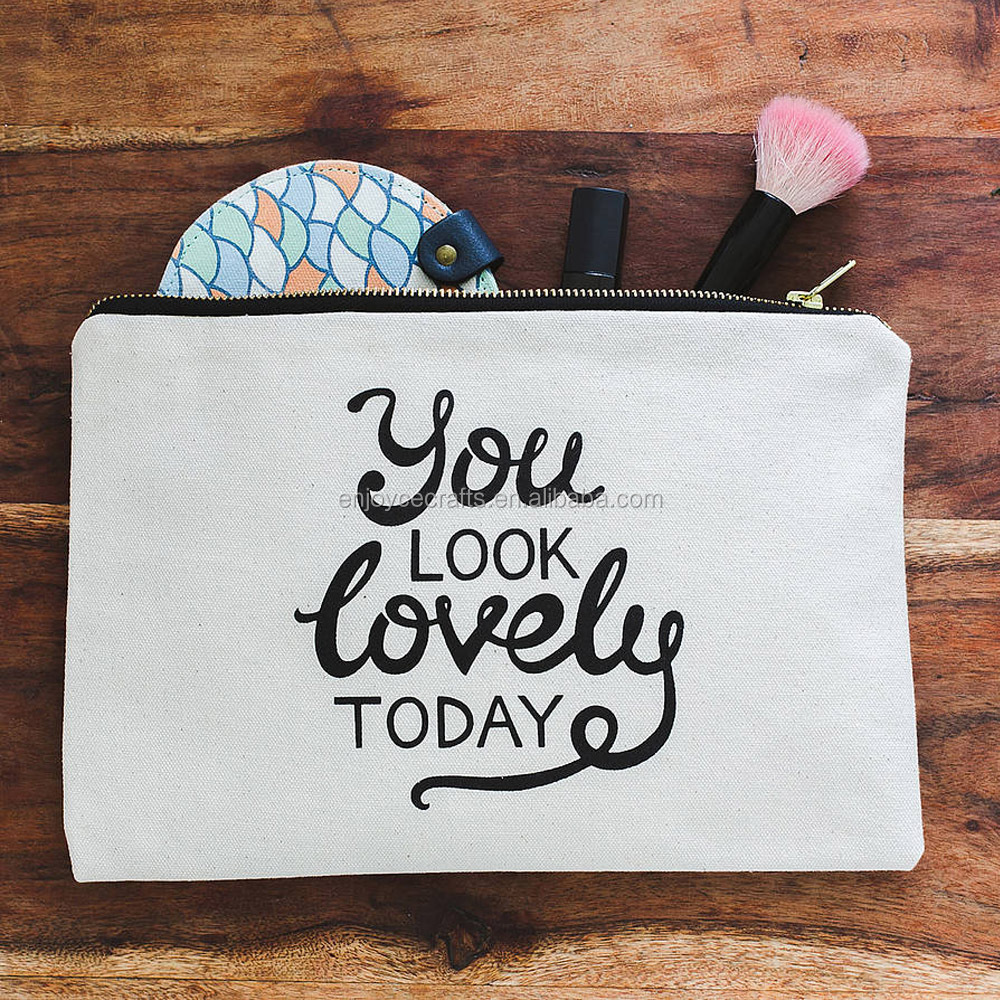 promotional reusable cheap canvas make up bag