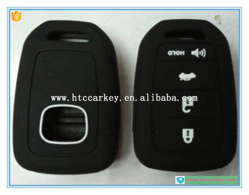 4 button silicone rubber key cover for honda car key case