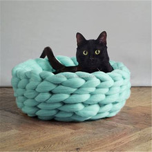 Soft Warm Handmade Giant Knitting Big Extreme Pet Dog Cat Bed