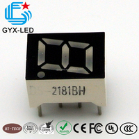 14*7.5mm RED color single digit 0.36 inch 7 segment led display