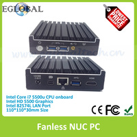 Latest High Quality FanlessMIni PC with Onboard Intel Core i7-5500U 2.4GHz Dual Core Four Thread Max 3.0MHz Processor
