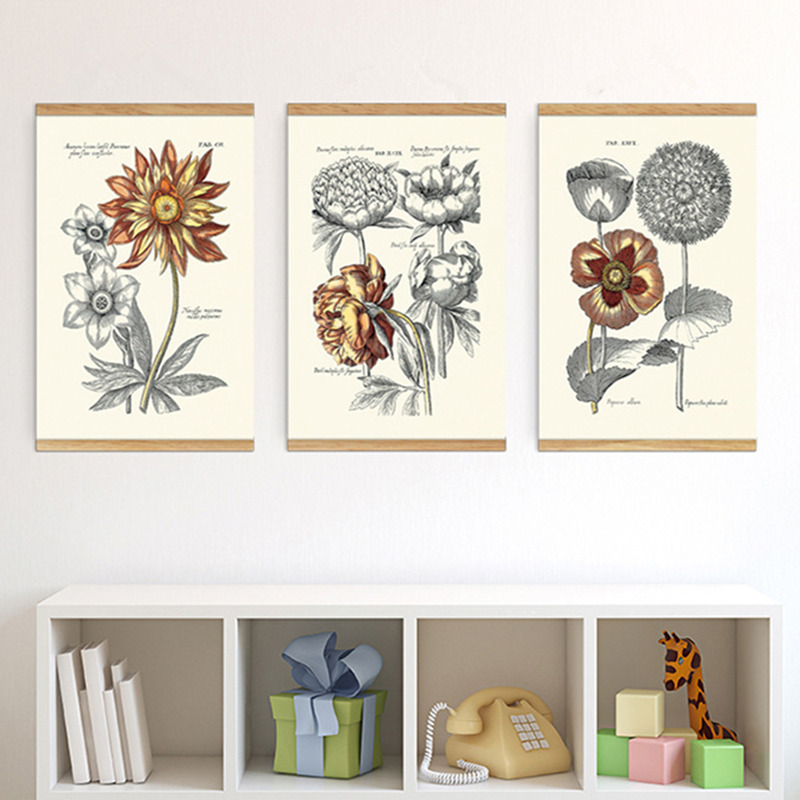 Wholesale Wooden Magnetic Poster Hanger Frame For Canvas Printing Pictures