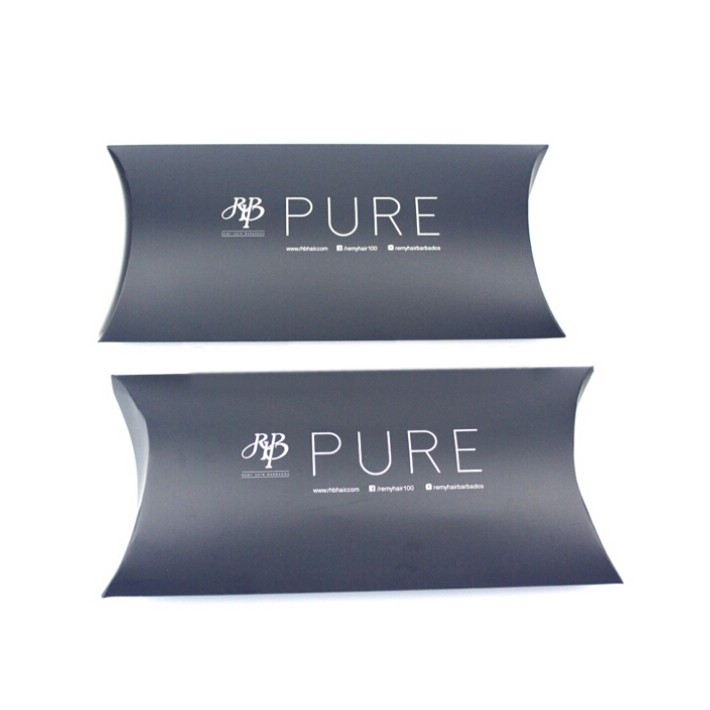 Unique Luxury Black Foldable Pillow Packaging Shipping Boxes