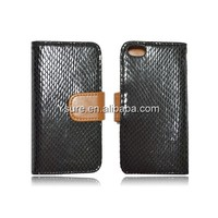new arrival iphone5c case snake skin pattern pu with card holder