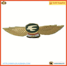 Custom Metal Soft Enamel Pilot Wings Pin Badge