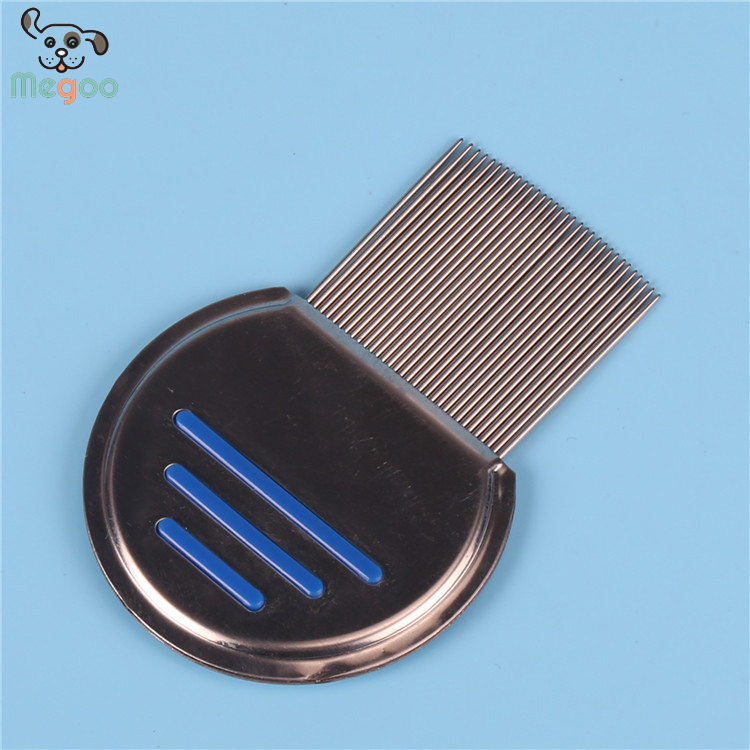 Half Round Stainless Steel Pet Flea Comb 10*7cm