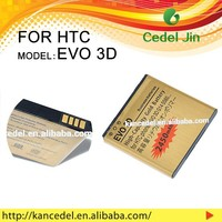 BG58100 Fast Charging gold mobile phone battery For HTC EVO 3D