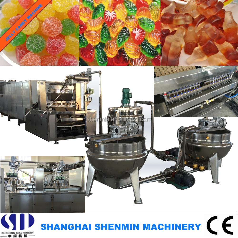Full automatic jelly gummy bear pectin candy making depositing machine line