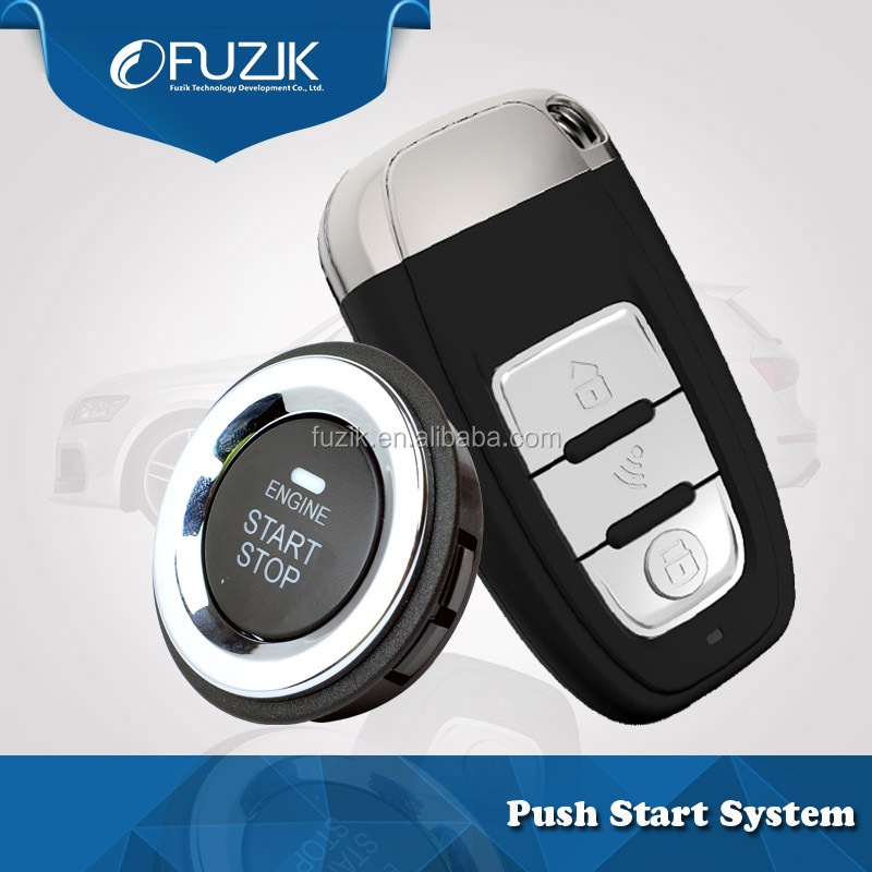 FHSS Auto Smart Start Keyless Entry System With Push Engine Start-Stop Button for FordEscort