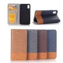 2017 Hot sale PU Leather case For Apple iPhone X,Artificial Flip Wallet Case For iPhoneX , Card Slots Case For Apple iPhone X