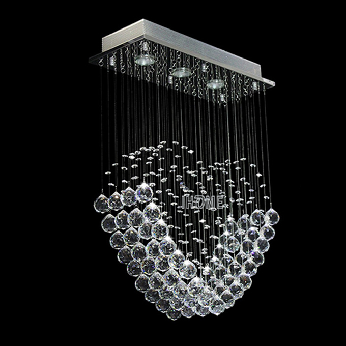 Excellent fancy oval love shape led hanging crystal pendant lamp