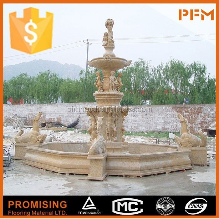 Carved outdoor Marble stone birdbath fountain