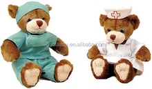 custom doctor and nurse teddy bear plush bear toys with work clothes
