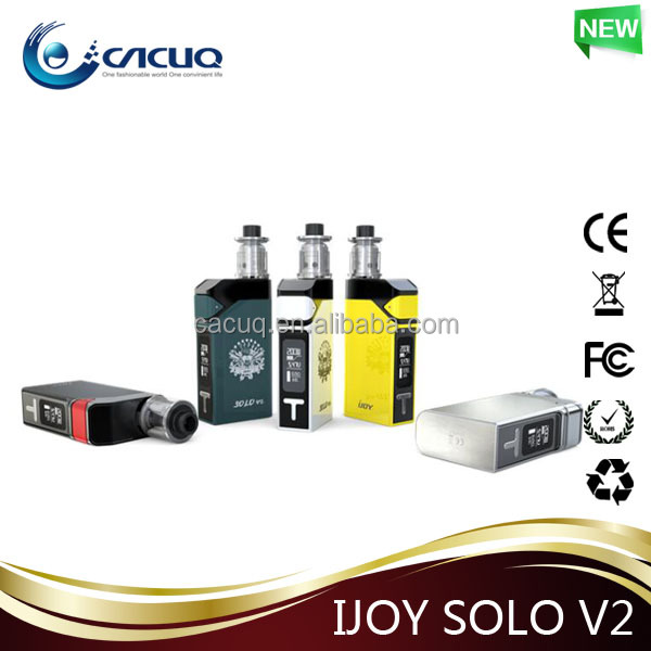 Ijoy SOLO V2 Newest 2ml 200W IJOY Solo V2 Kit shop e cigarette CACUQ wholesale