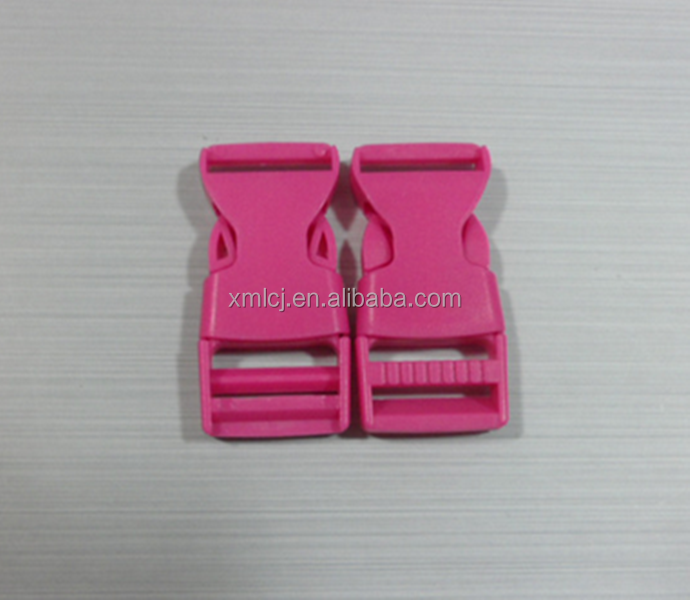 Red color 3/4 adjustable side release buckle for 20mm webbing