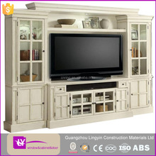 European style latest design mdf tv cabinet in living room 2016