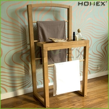Oak Wooden Clothes Valet Towel Rack Homex-BSCI Factory
