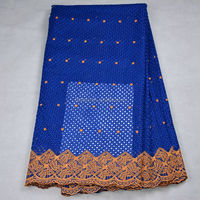 2017 royal blue heavy african 100% cotton polish lace swiss voile lace in switzerland