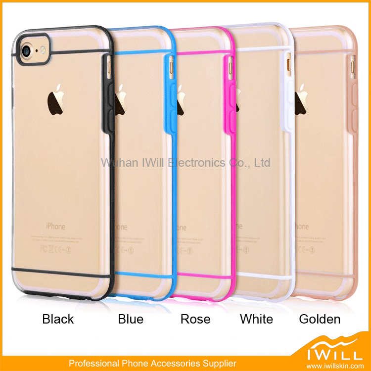 Hard Clear Plastic Phone Covers For iPhone 7 With Horizontal Line