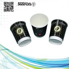 8oz 12oz 16oz disaposable double wall paper coffee cup