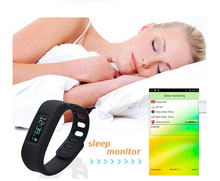 Bluetooth Smart Healthy Bracelet OLED Watch for Android Mobile Cell Phone