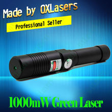 OXLasers OX-GX9 520nm(NOT 532nm) Focusable 1000mw 1W Green laser pointer the Brightest Burning Laser Light Cigar free shipping