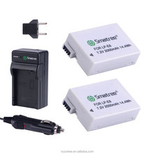 Smatree Power Battery and Charger for Canon LP-E8 and Canon EOS 550D Gopros