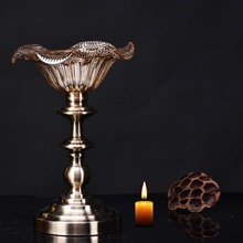 tall single metal pillar candle holders for home decoration