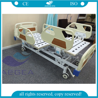 Cheap hospital bed AG-BY004 ICU electric nursing home furniture crank medical bed