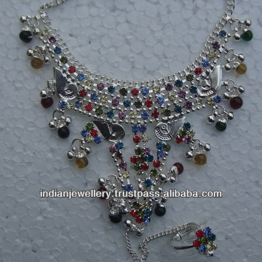 Indian costume fashion jewelry barefoot sandals wholesale exporter